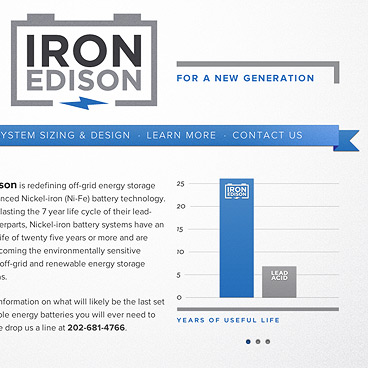 Iron Edison Nickel Iron Batteries